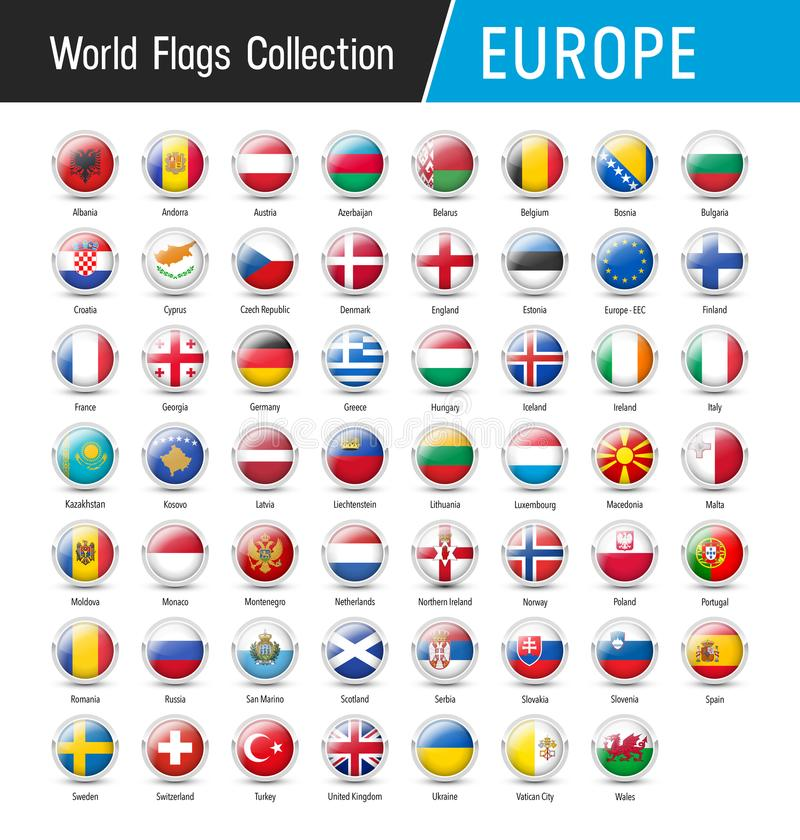 Free Set Of European Flags - Vector Round Icons Stock Image - 101297741