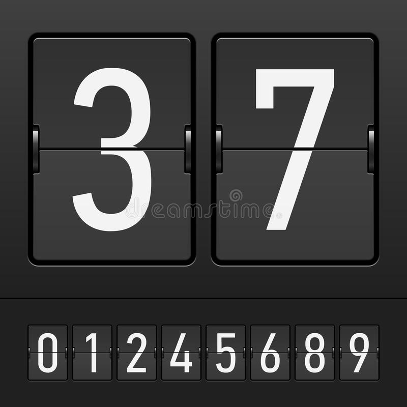 Free Set Of Figures On A Mechanical Scoreboard Stock Photos - 14655473