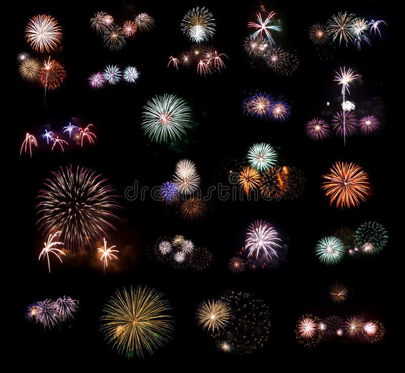 Free Set Of Fireworks 2. Royalty Free Stock Photos - 9303958