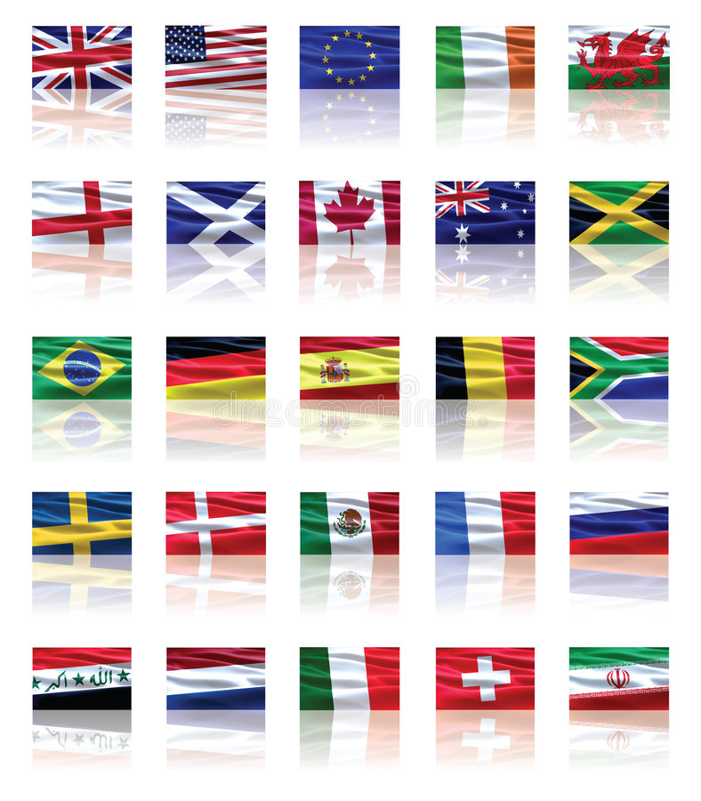 Free Set Of Flags Stock Photo - 7931400
