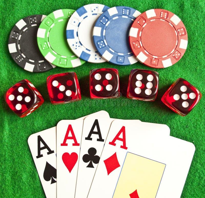 Free Set Of Gambling Objects Royalty Free Stock Photo - 16804915