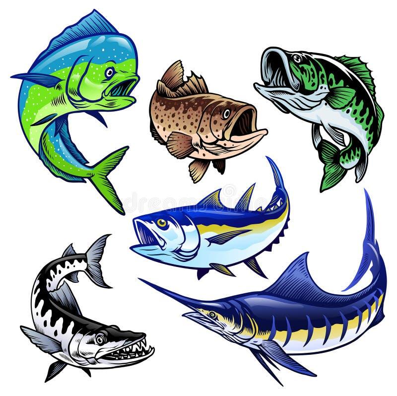Free Set Of Gamefish Bundle Collection Stock Image - 178309381
