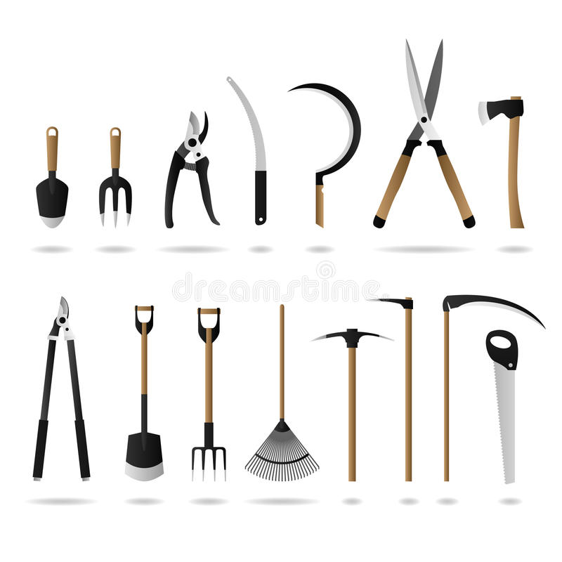 Free Set Of Gardening Tools Stock Photography - 14391792