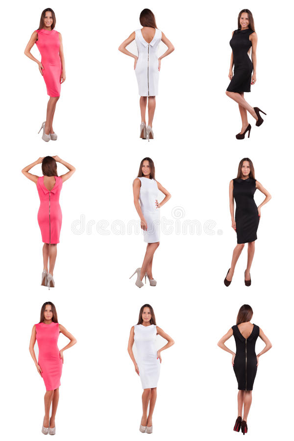 Free Set Of Girl In Various Clothes Royalty Free Stock Image - 49238866
