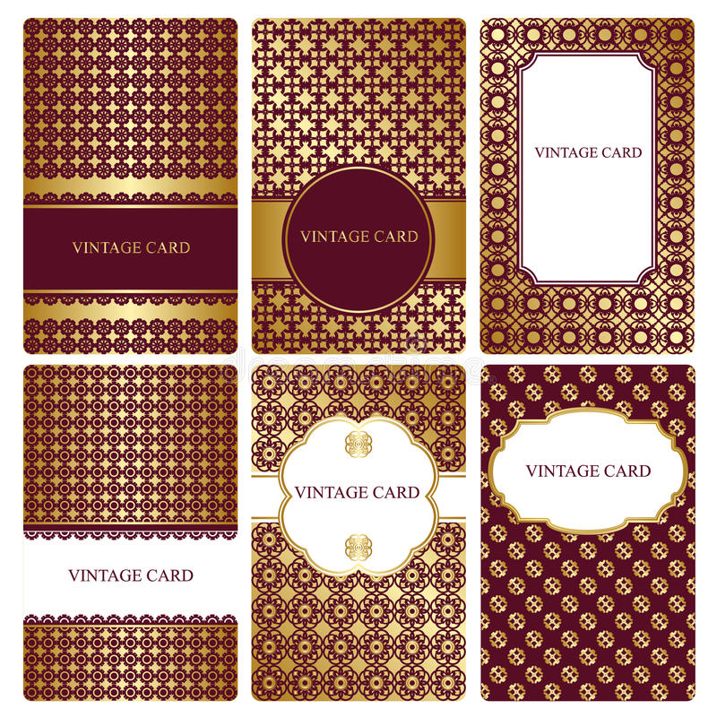 Free Set Of Gold Business Card Templates. Royalty Free Stock Photography - 53093007