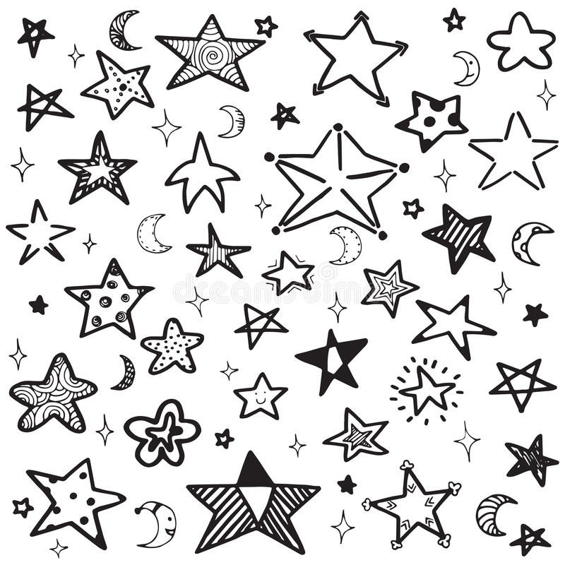 Free Set Of Hand Drawn Doodle Outline Star Vector Illustration Stock Photo - 87433300