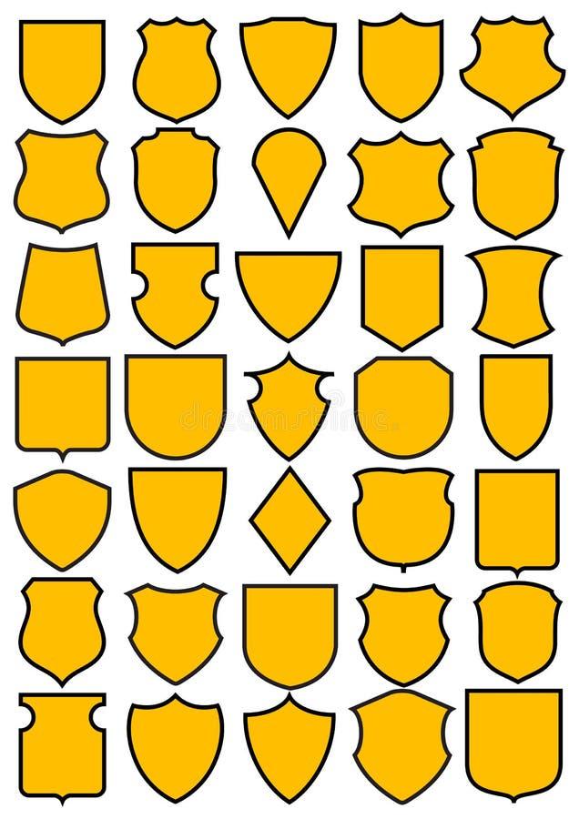 Free Set Of Heraldic Shields Stock Photos - 7095533