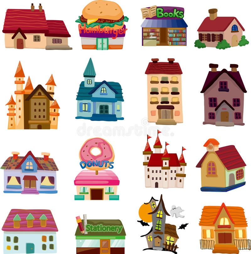 Free Set Of House Icons Royalty Free Stock Images - 31115589