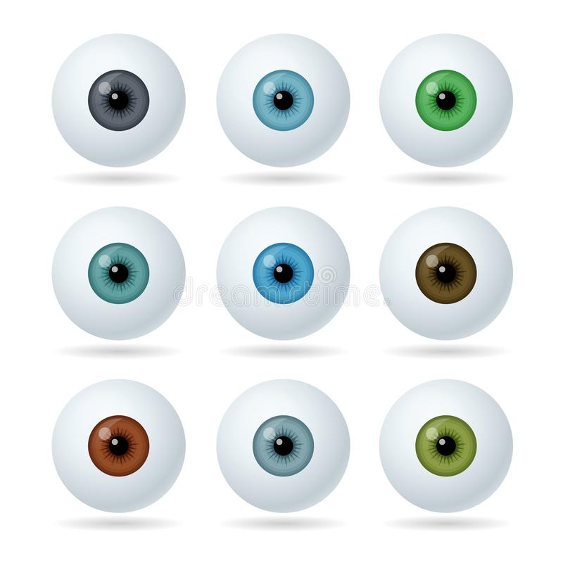 Free Set Of Humans And Abstract Eyes. Realistic Eyes Icons. Royalty Free Stock Images - 158191249