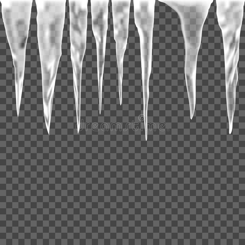 Free Set Of Ice Icicle On A Transparent Background Stock Images - 81272044
