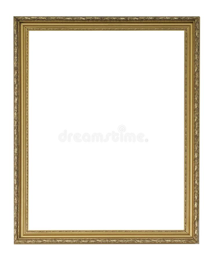 Free Set Of Isolated Art Empty Frames In Golden Stock Image - 126735881