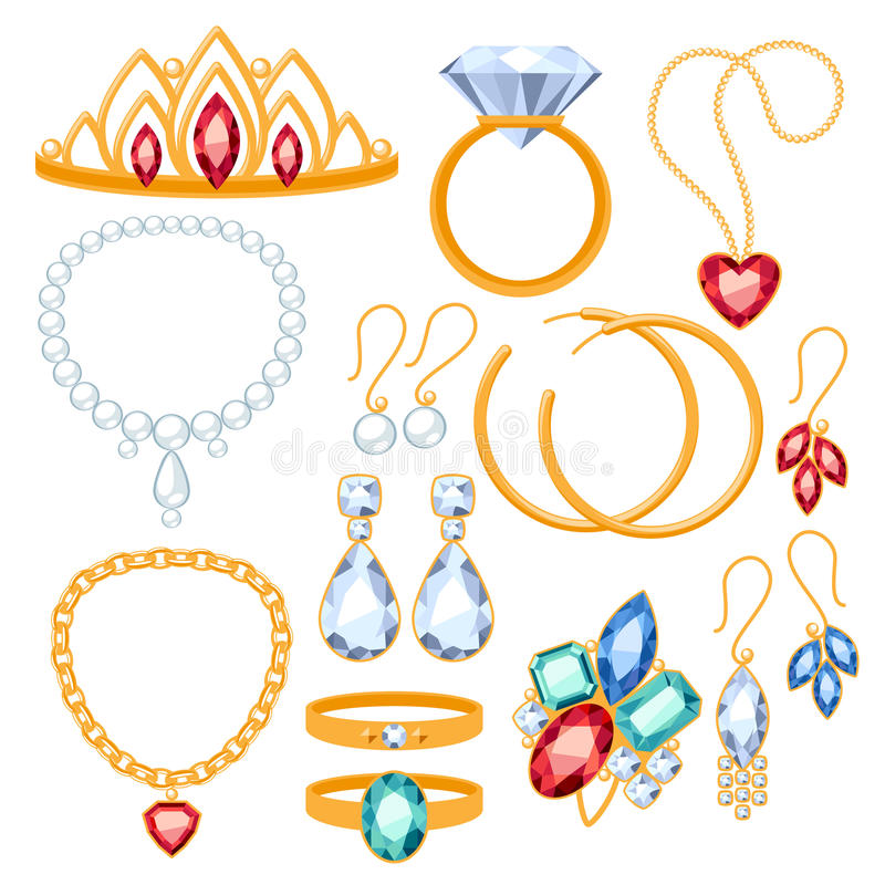 Free Set Of Jewelry Items. Stock Photography - 48621452