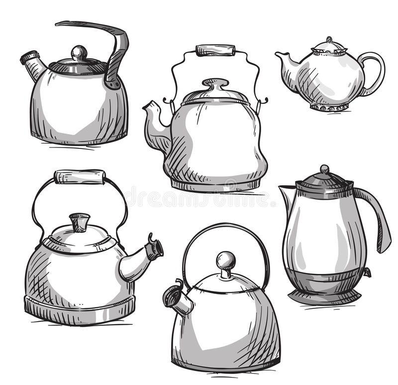 Free Set Of Kettles Stock Photo - 53176670