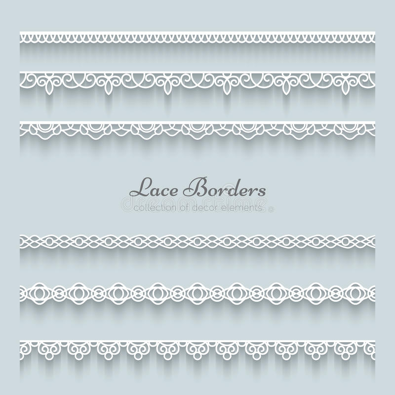 Free Set Of Lace Borders Royalty Free Stock Photos - 37922428