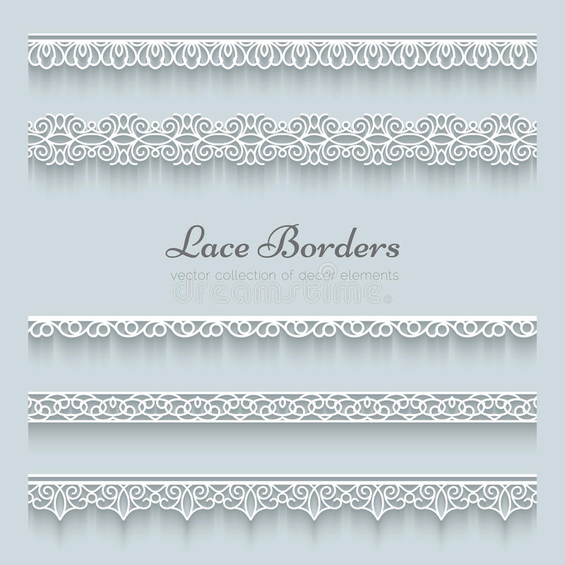 Free Set Of Lace Borders Royalty Free Stock Photos - 40573248