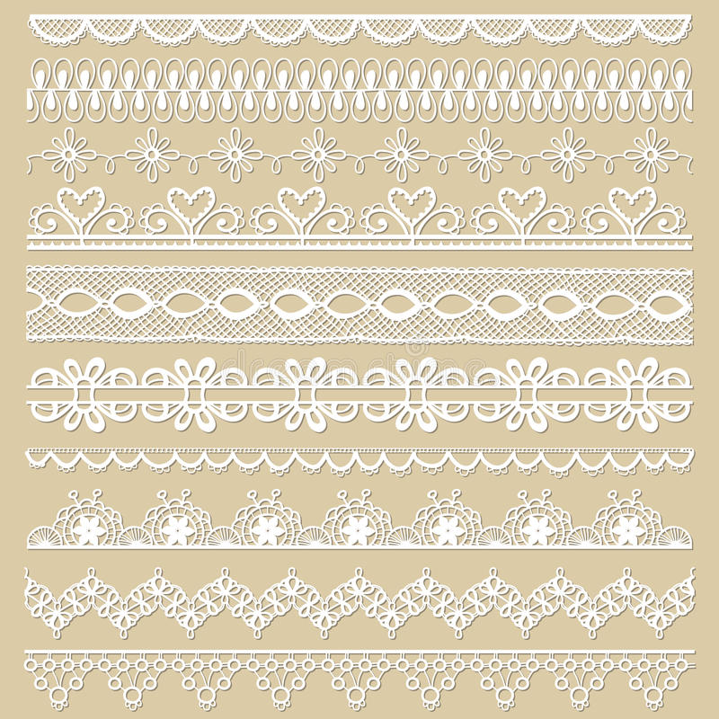 Free Set Of Lace Ribbons Stock Photography - 31303732