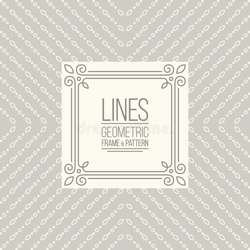 Free Set Of Line Pattern And Linear Frame Royalty Free Stock Photos - 62342778