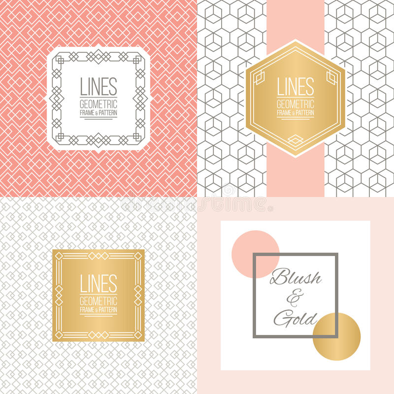 Free Set Of Line Patterns And Linear Frames Stock Images - 64490474