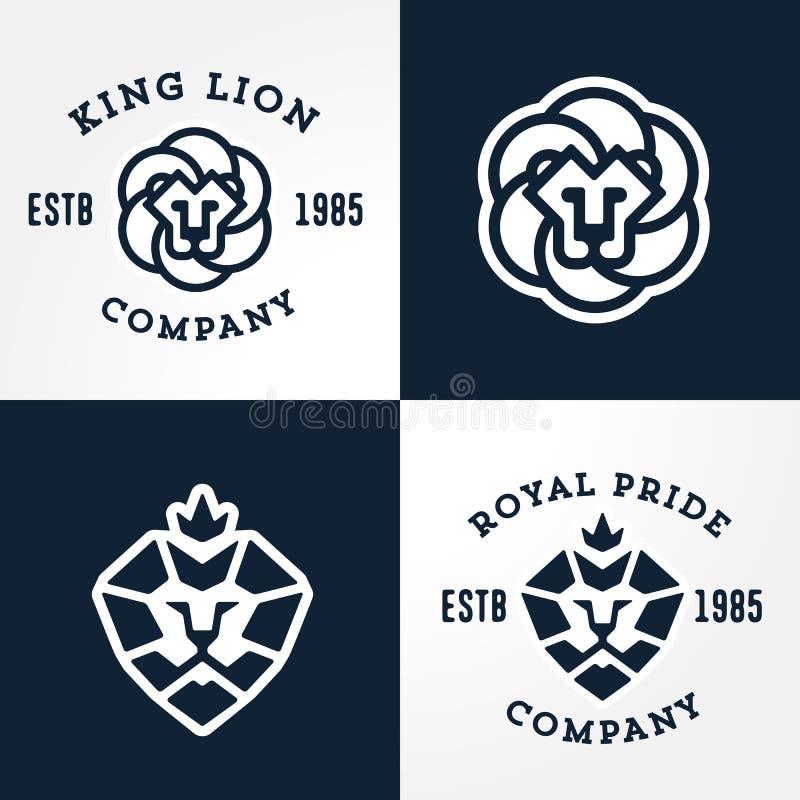 Free Set Of Lion Logo Templates Royalty Free Stock Image - 49824456