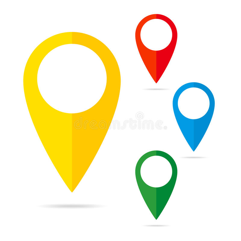 Free Set Of Map Markers - Illustration. Royalty Free Stock Photography - 80148647