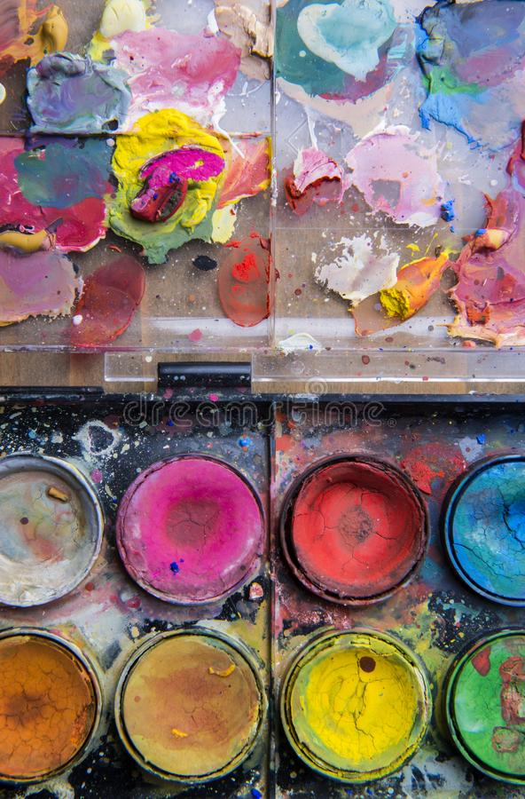 Free Set Of Messy Watercolor Paints Stock Photography - 111179382