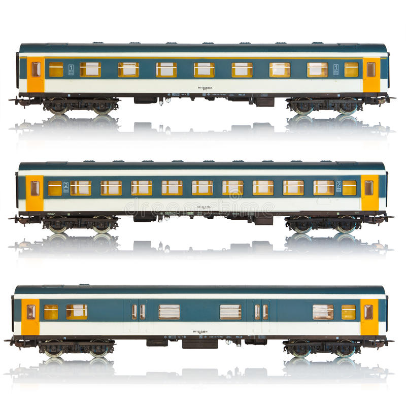 Free Set Of Miniature Passenger Railroad Cars Stock Photos - 15150923
