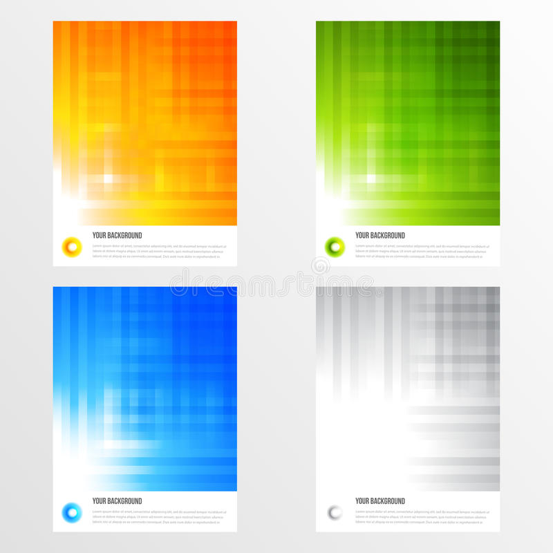 Free Set Of Modern Vector Banners With Lines Royalty Free Stock Photo - 41617075