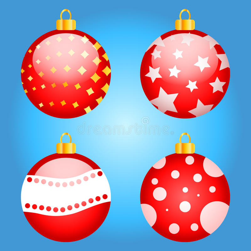 Free Set Of Multi-colored Christmas Toys Vector Stock Images - 63423864