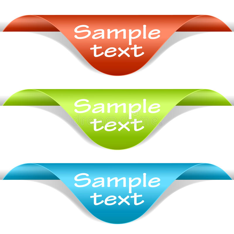 Free Set Of Multicolored Label Corners Royalty Free Stock Photo - 19846985