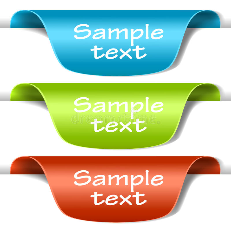 Free Set Of Multicolored Tag Labels Royalty Free Stock Photography - 19525107