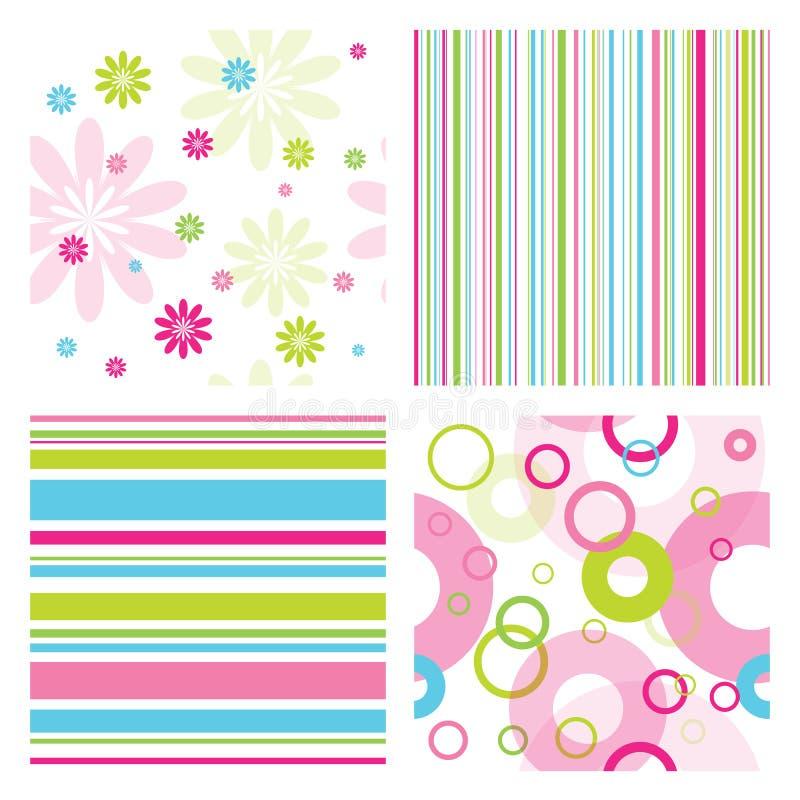 Free Set Of Patterns Royalty Free Stock Image - 18251436