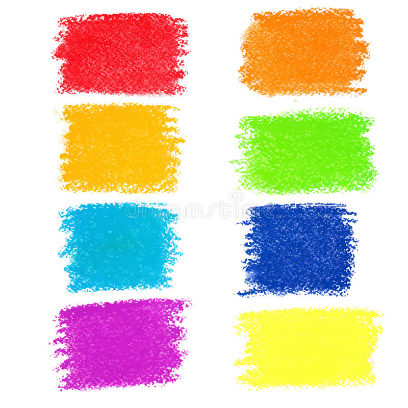 Free Set Of Rainbow Pastel Crayon Spots Stock Photography - 46574412