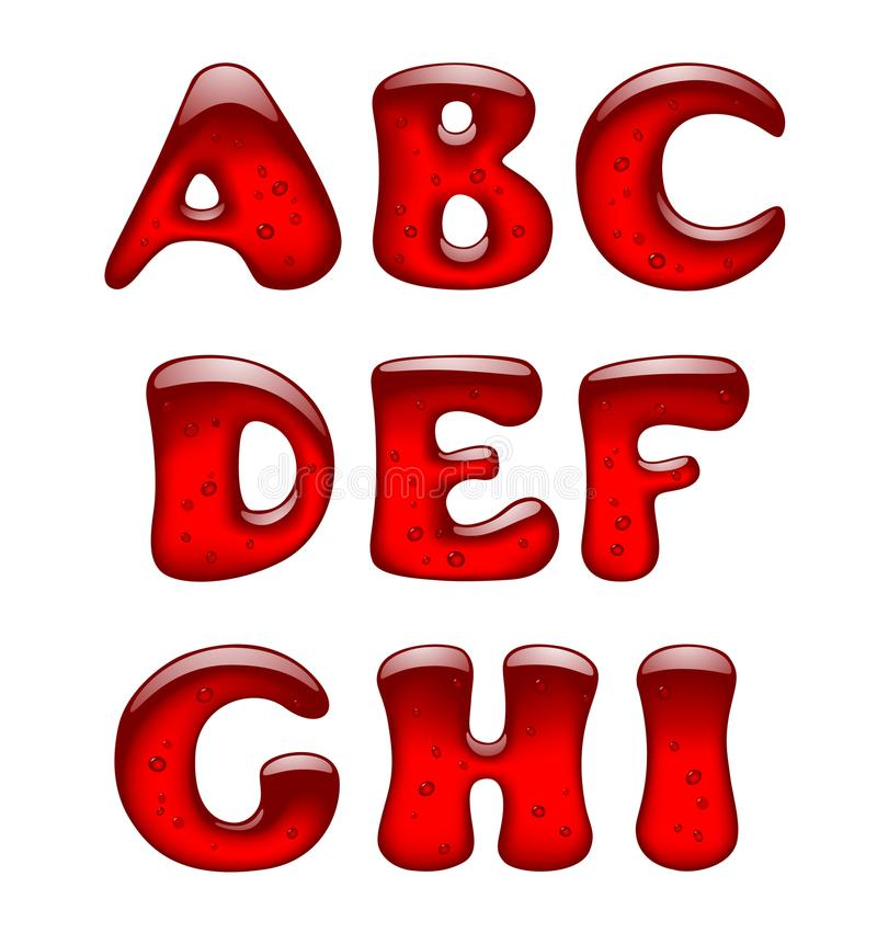 Free Set Of Red Gel And Caramel Alphabet Capital Letters Isolated On Royalty Free Stock Image - 113878626