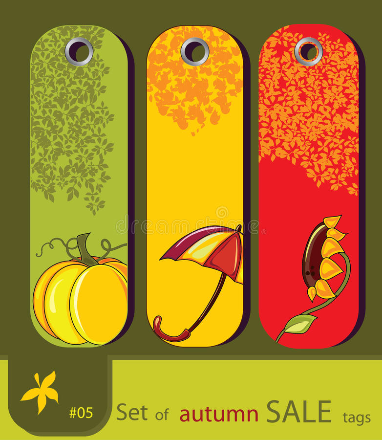 Free Set Of Retro Sale Nature Autumn Tags Royalty Free Stock Photo - 20340605