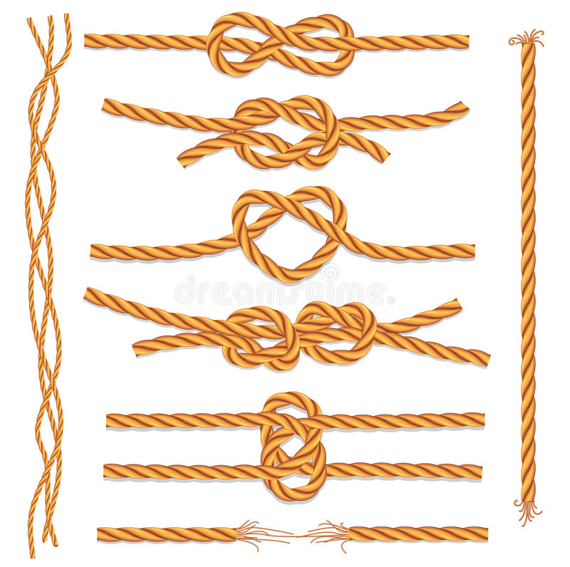 Free Set Of Ropes And Knots Stock Photo - 20290330