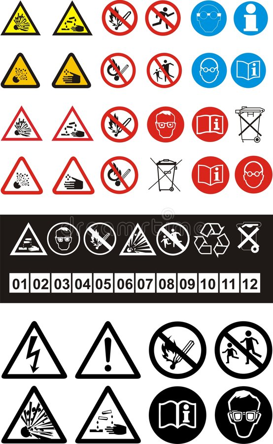Free Set Of Safety Symbols Royalty Free Stock Image - 6342846