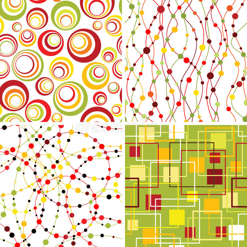 Free Set Of Seamless Backgrounds. Royalty Free Stock Image - 15327216