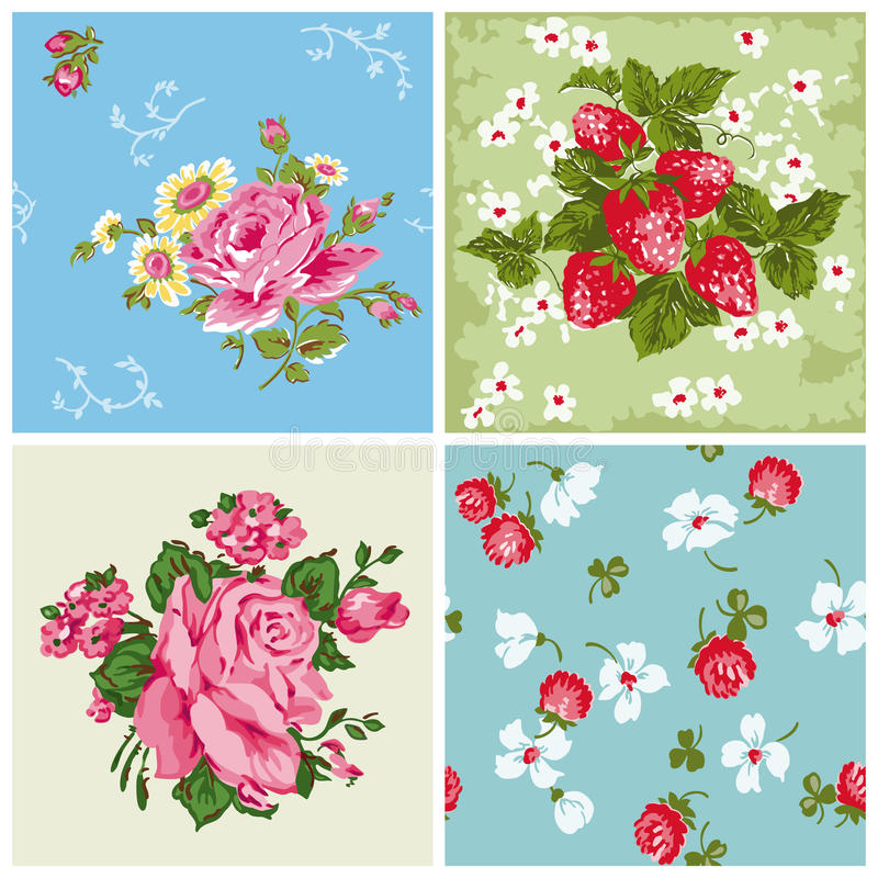 Free Set Of Seamless Vintage Floral Backgrounds Stock Image - 29099911