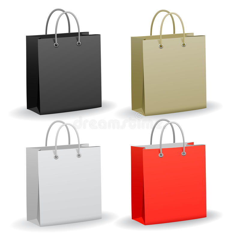 Free Set Of Shopping Bag Stock Images - 28242584