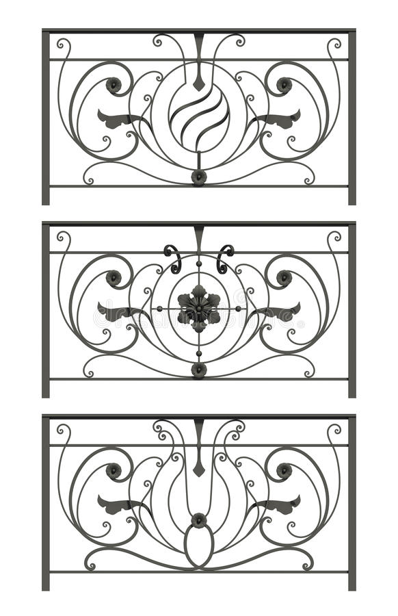 Free Set Of Silhouettes Of Iron Fences Royalty Free Stock Photo - 29413045
