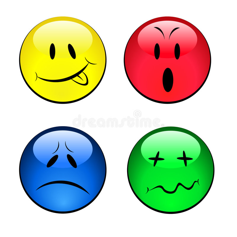 Free Set Of Smiley Emotional Faces Royalty Free Stock Photos - 8643098