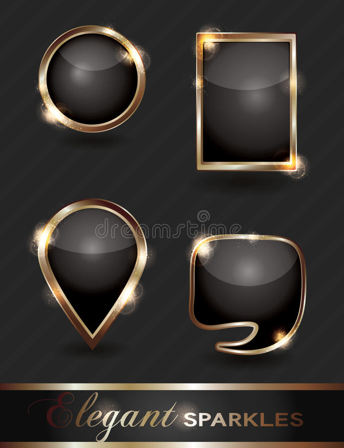 Free Set Of Sparkling Web Buttons Stock Image - 20401211