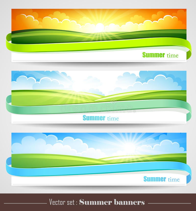 Free Set Of Summer Banners Stock Images - 30121614