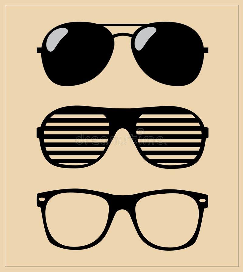Free Set Of Sunglasses. Illustration Background Stock Photos - 32949293