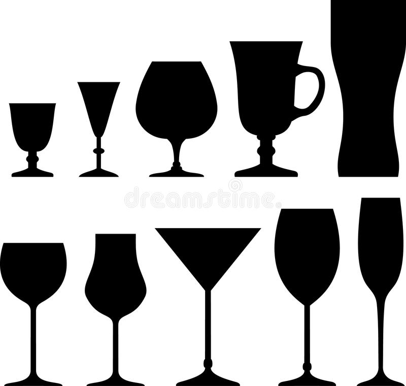 Free Set Of Symbols And Icons Glasses Stock Photography - 25470322