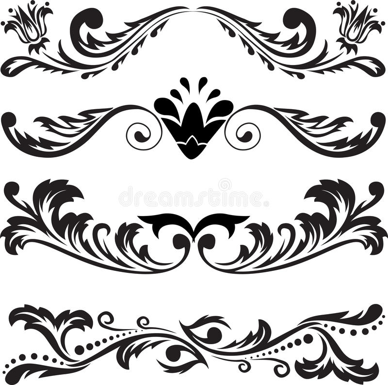 Free Set Of Symmetric Ornaments 3 Royalty Free Stock Image - 17756036