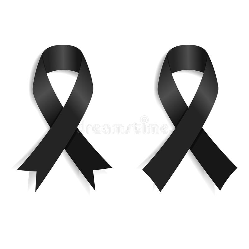 Free Set Of The Black Ribbon Royalty Free Stock Images - 66694089