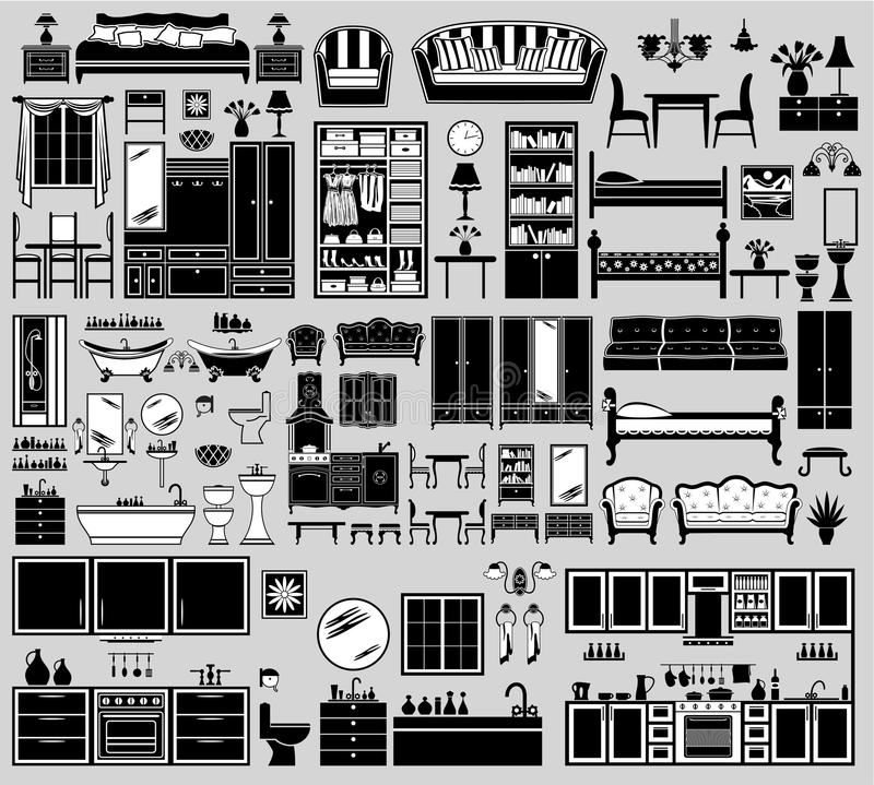 Free Set Of The Furniture Icons. Stock Image - 55307711