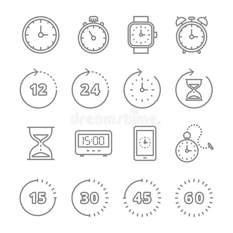 Free Set Of Timer Icons. Vector Illustration Decorative Design Royalty Free Stock Images - 192485029