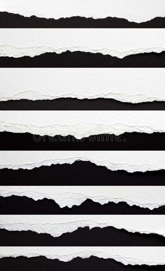 Free Set Of Torn Paper Edges Royalty Free Stock Photography - 110198887